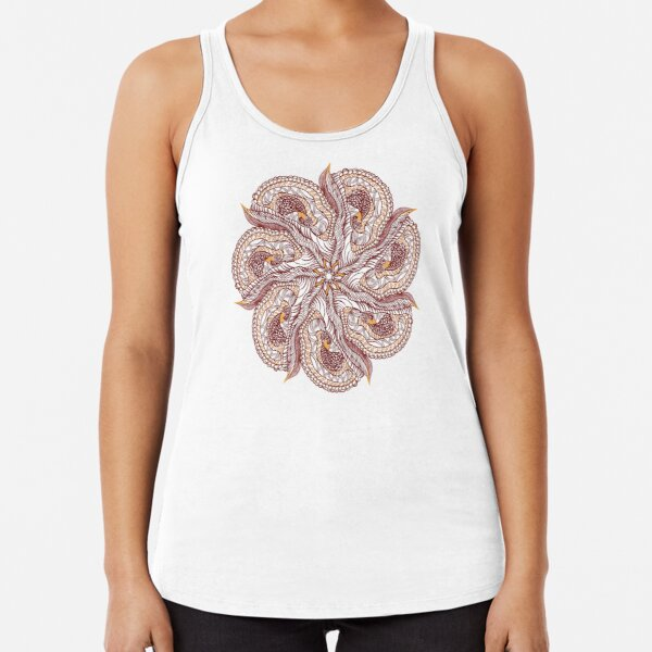 Seven Organic Arms Pods Seeds and Leaf Racerback Tank Top