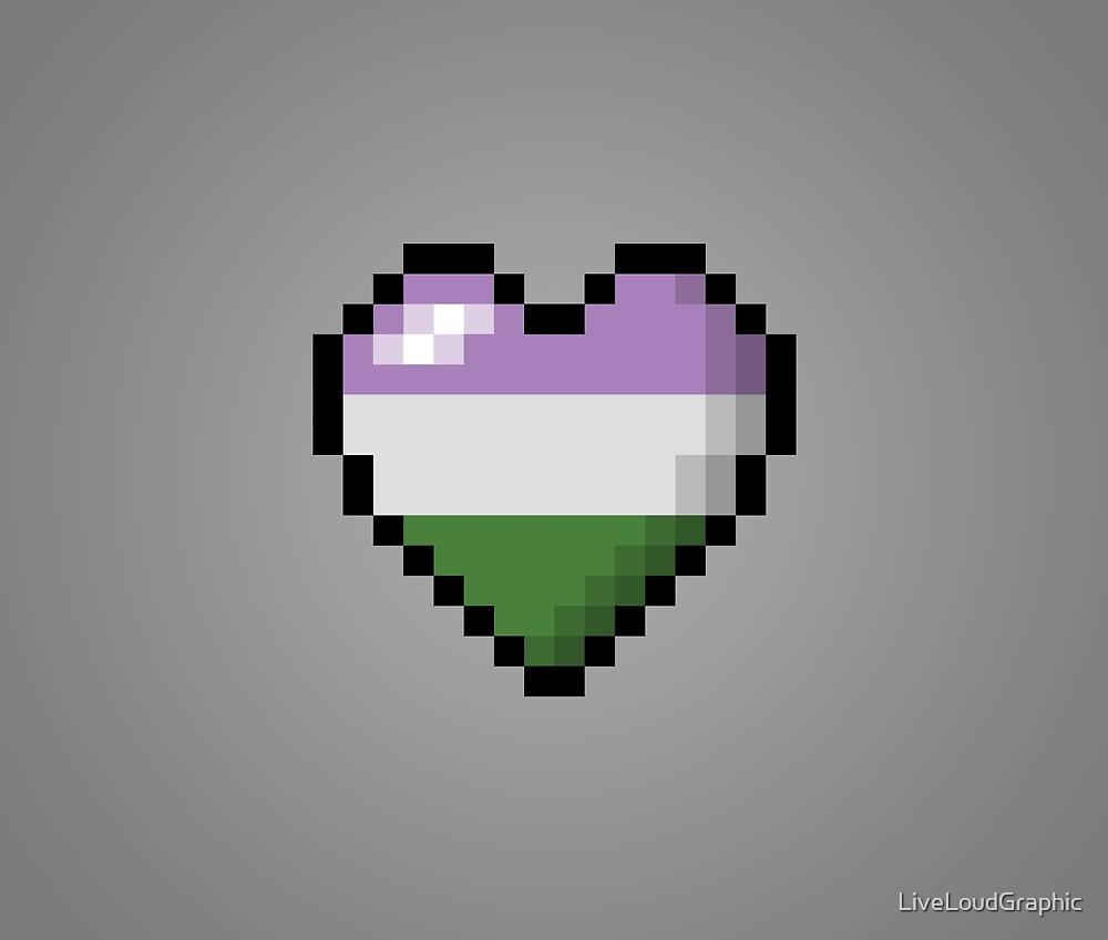 Genderqueer Pixel Heart by LiveLoudGraphic