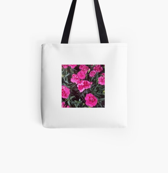 Pink flowers All Over Print Tote Bag