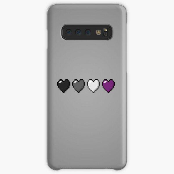 Asexual Pixel Hearts Samsung Galaxy Snap Case