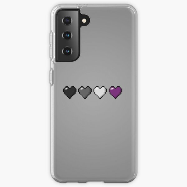 Asexual Pixel Hearts Samsung Galaxy Soft Case