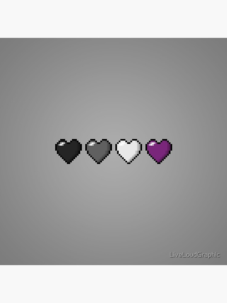 Asexual Pixel Hearts by LiveLoudGraphic