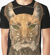 Godly Alien Cat Graphic T-Shirt