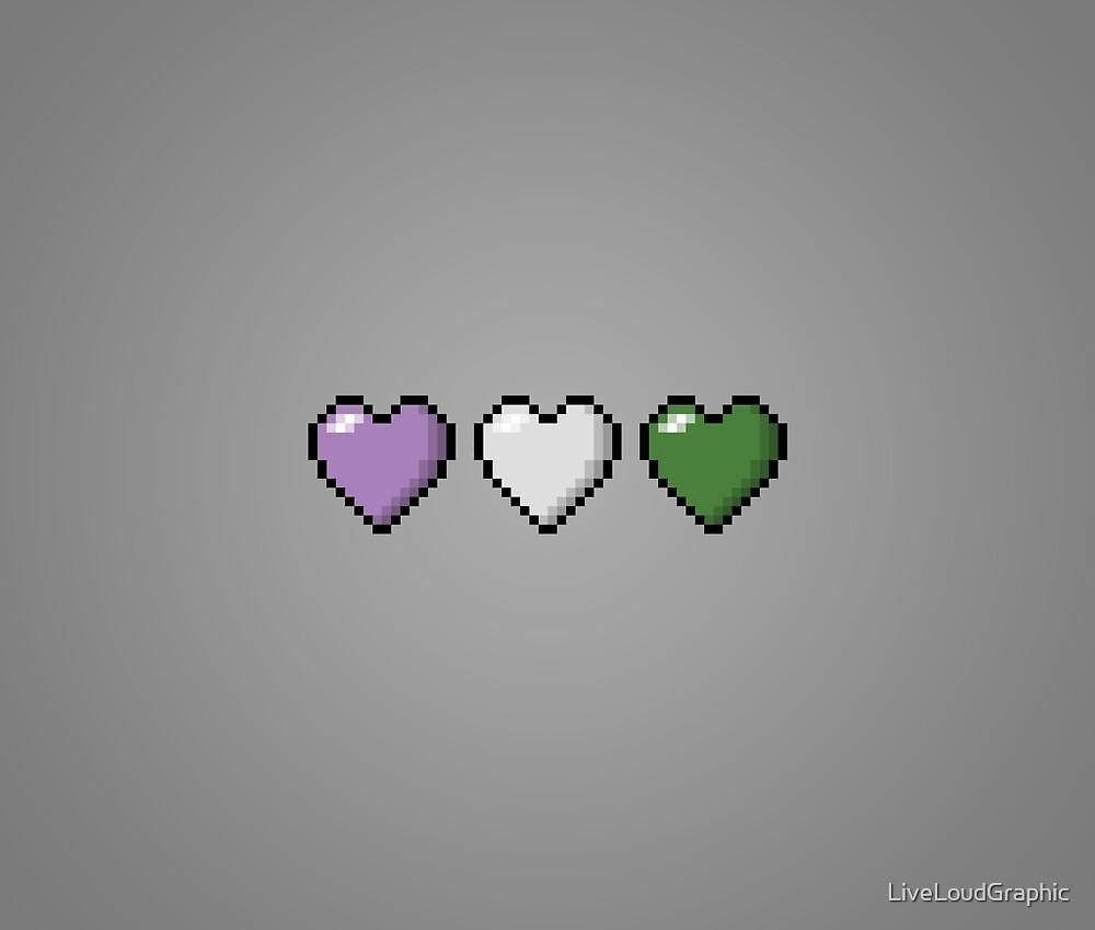 Genderqueer Pixel Hearts by LiveLoudGraphic