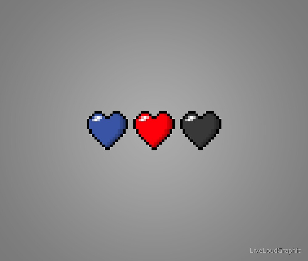 Polyamory Pixel Hearts by LiveLoudGraphic