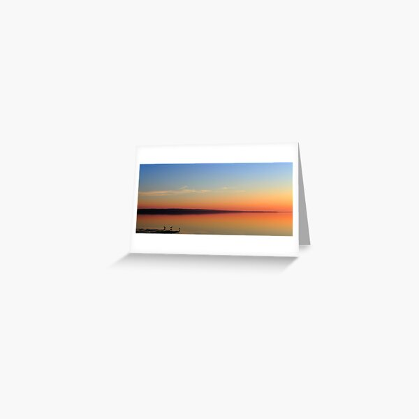 Dusk over French Island Greeting Card