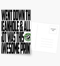 Down The Beanhole Postcards