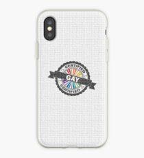 Certified Gay Pride Stamp iPhone Case
