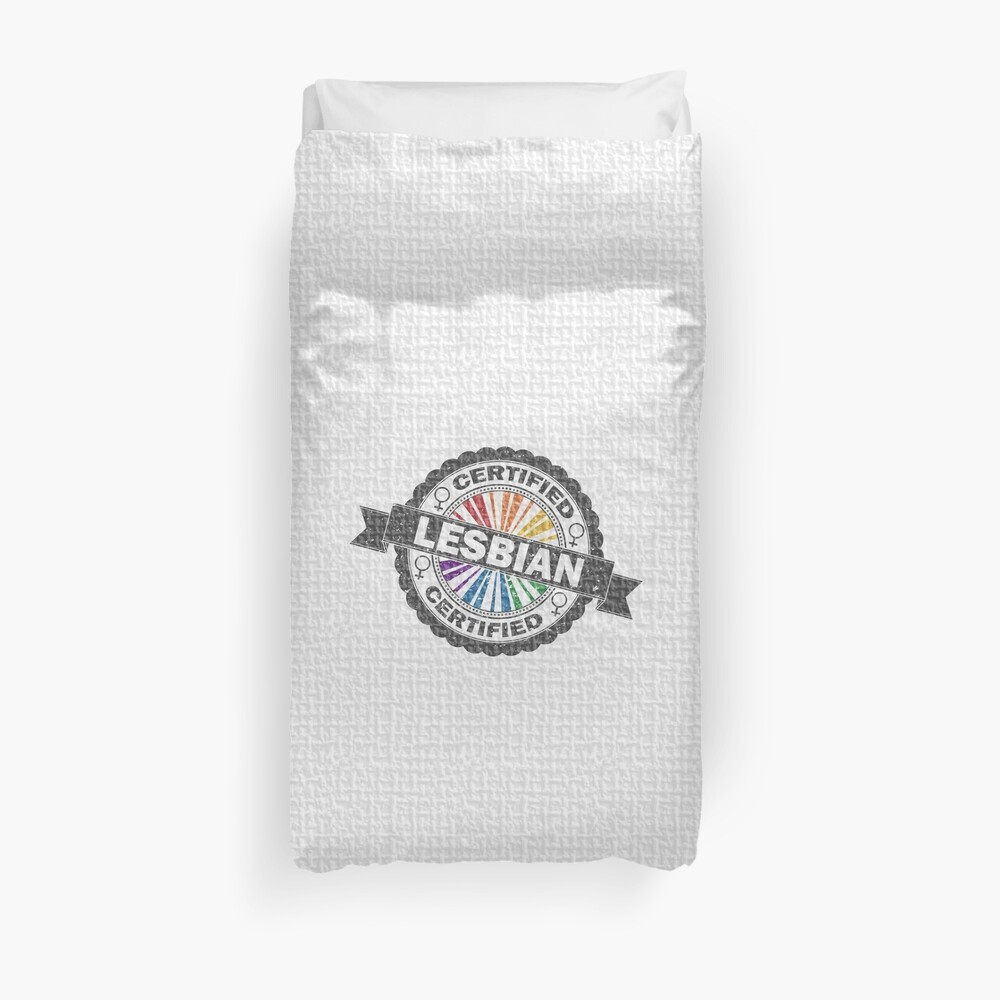 Certified Lesbian Stamp Duvet Cover