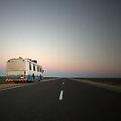 Lonely desert highway... by Keiran Lusk