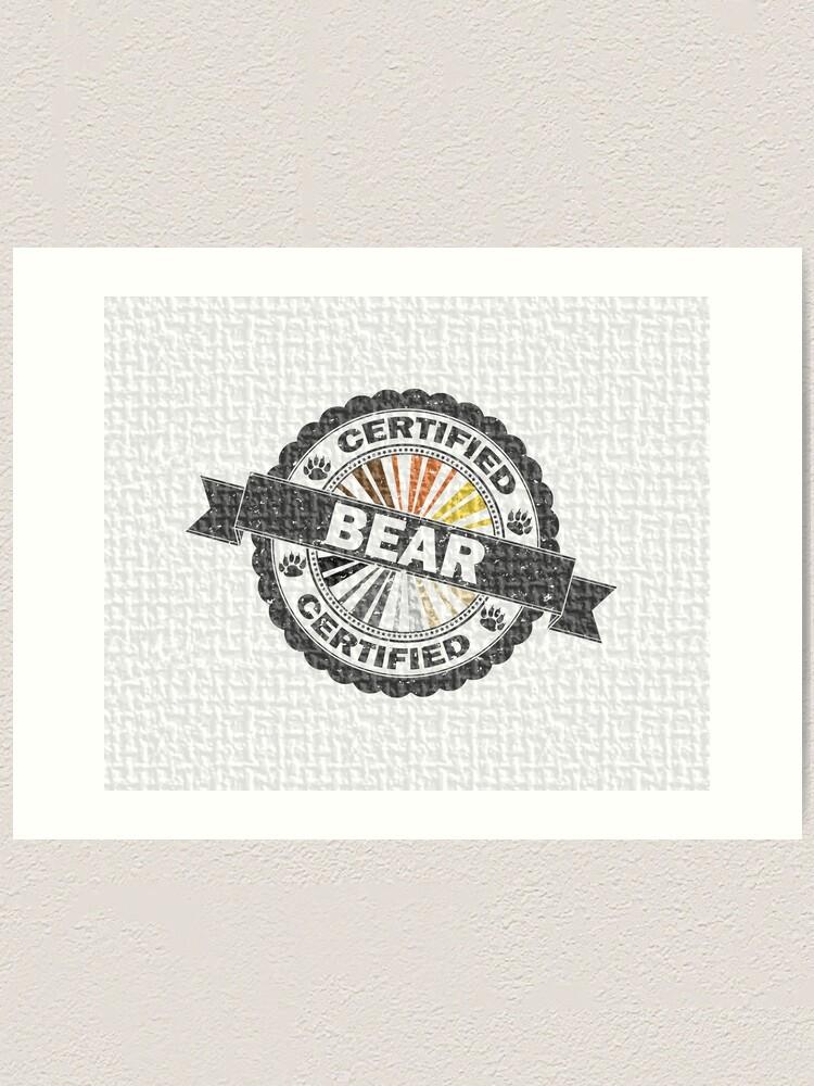Alternate view of Certified Bear Stamp Art Print
