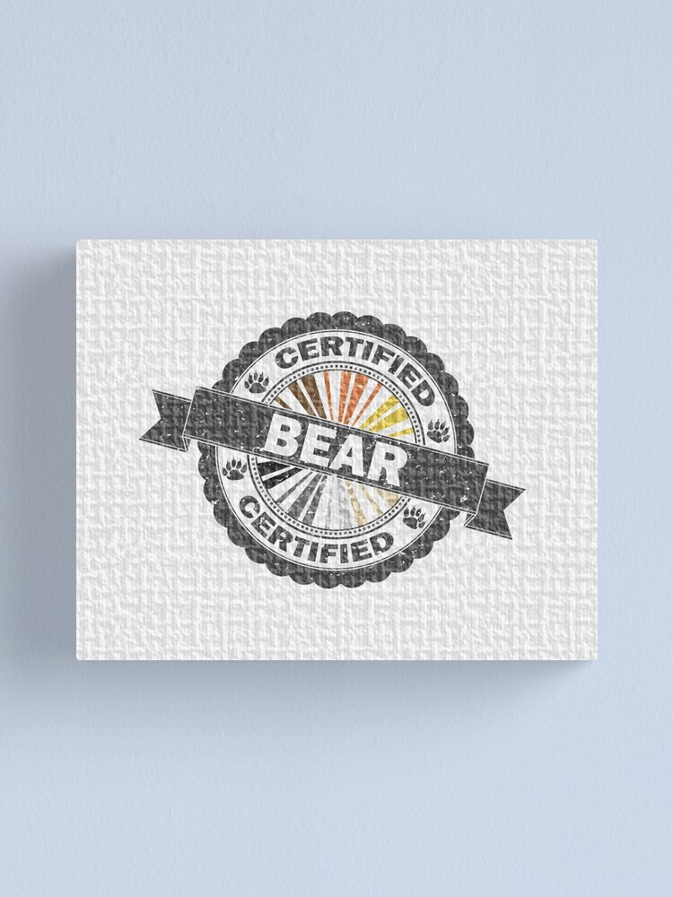 Alternate view of Certified Bear Stamp Canvas Print