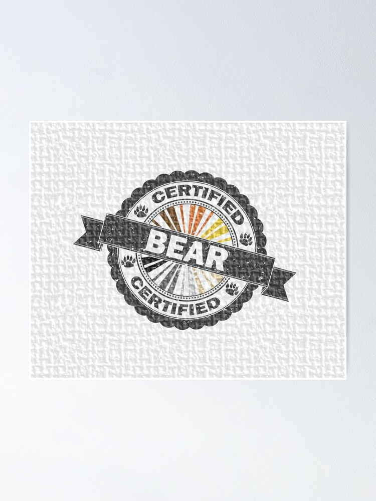 Alternate view of Certified Bear Stamp Poster