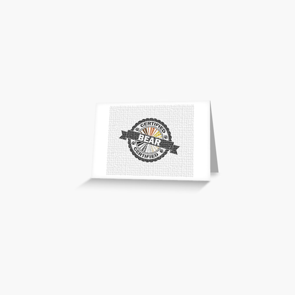 Certified Bear Stamp Greeting Card