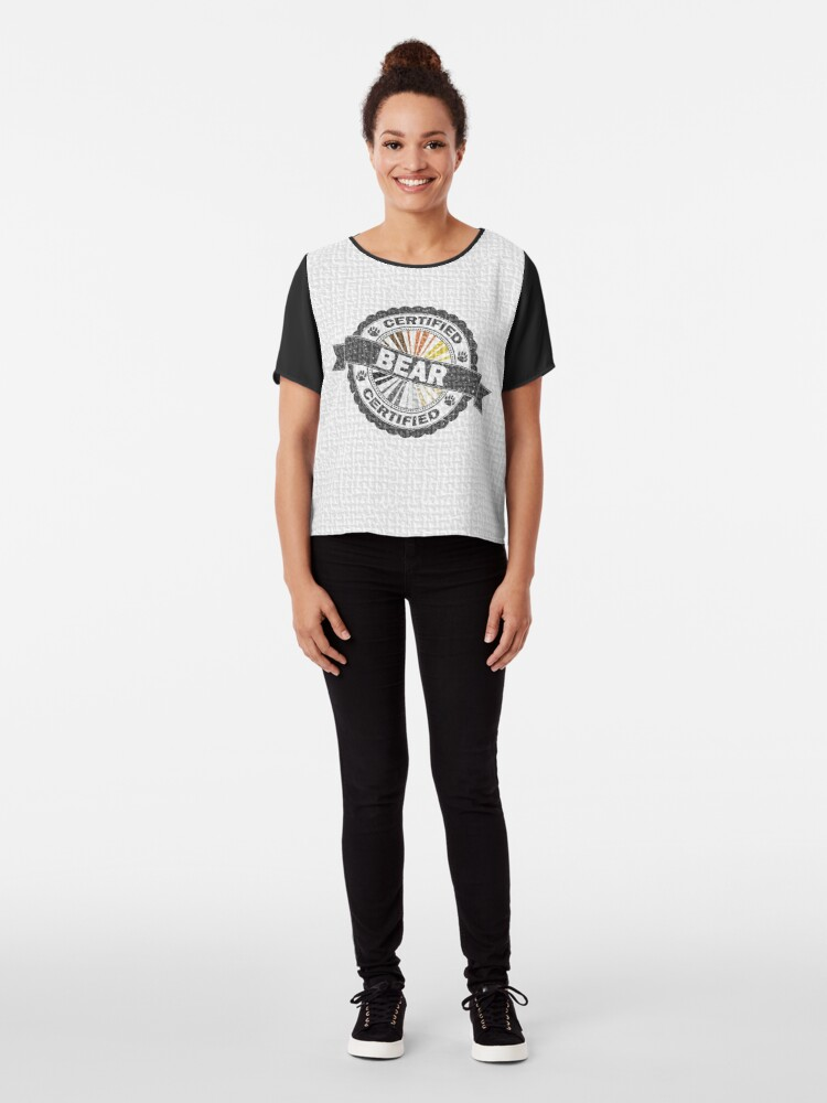 Alternate view of Certified Bear Stamp Chiffon Top