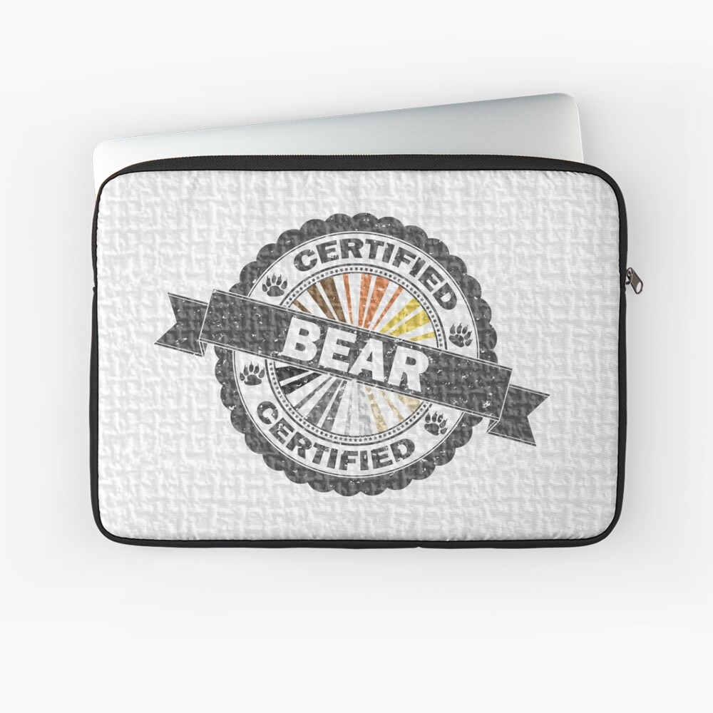 Certified Bear Stamp Laptop Sleeve