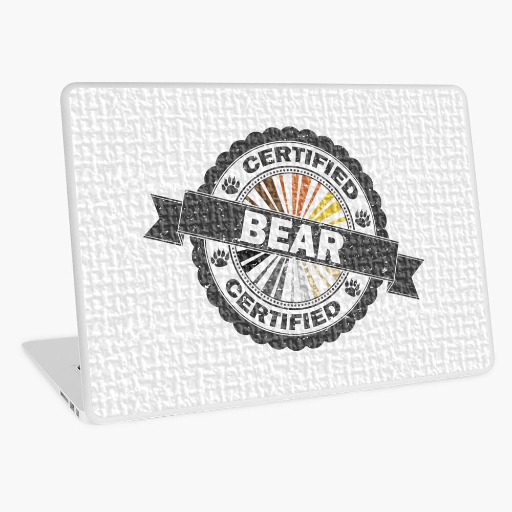 Certified Bear Stamp Laptop Skin