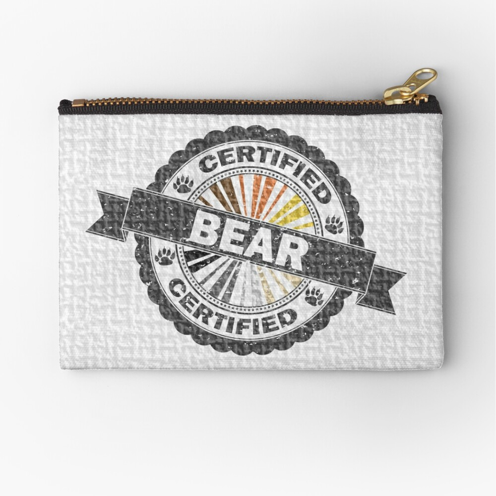 Certified Bear Stamp Zipper Pouch