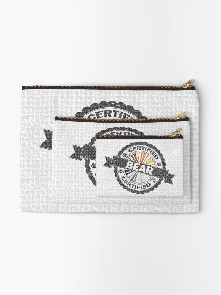 Alternate view of Certified Bear Stamp Zipper Pouch