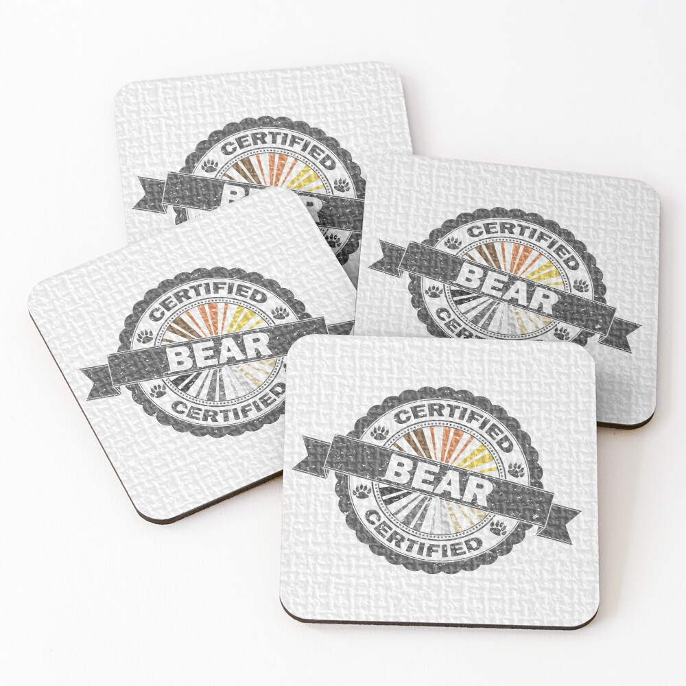 Certified Bear Stamp Coasters (Set of 4)