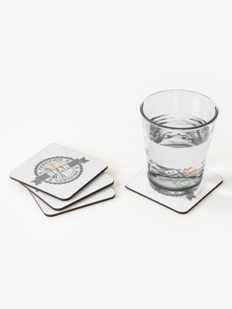 Alternate view of Certified Bear Stamp Coasters (Set of 4)