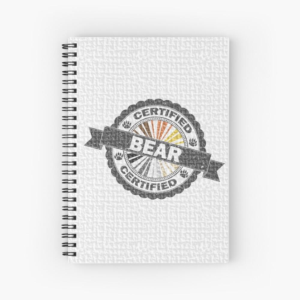 Certified Bear Stamp Spiral Notebook