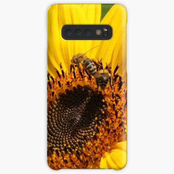 Sonnenblume mit Bienen Samsung Galaxy Leichte Hülle