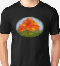 happy colourful autumn tree in sunshine Unisex T-Shirt