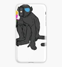 Cool monkey with sunglasses and sparkler iPhone Case