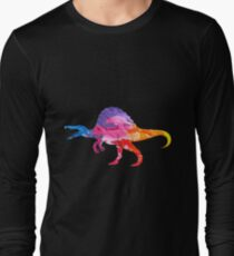 Colorful and Artistic Paint of Dinosaur  Long Sleeve T-Shirt