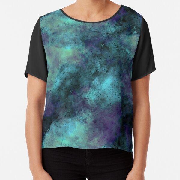 Galaxy - Purple, Blue, Green, Black Chiffon Top