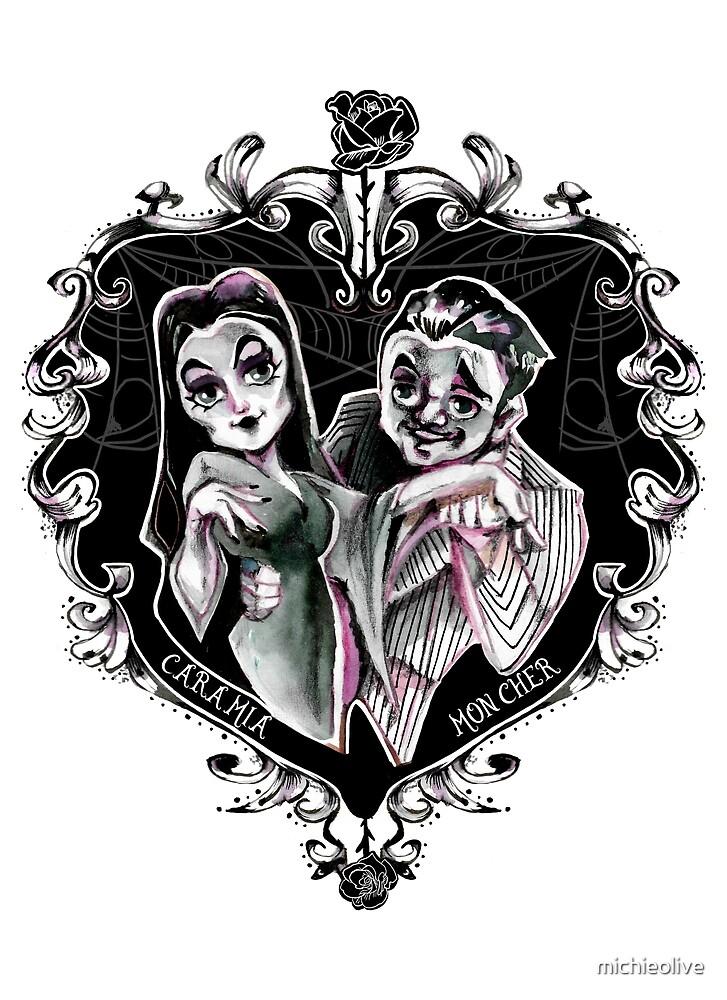 Cara Mia Mon Cher - The Addams Morticia and Gomez by michieolive