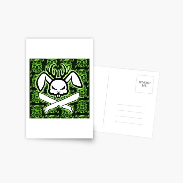 Angry Jackalope Greeen Postcard