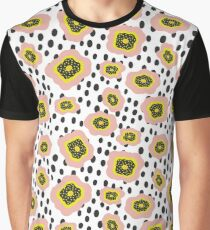 Polka Dot Doodle Flowers Graphic T-Shirt