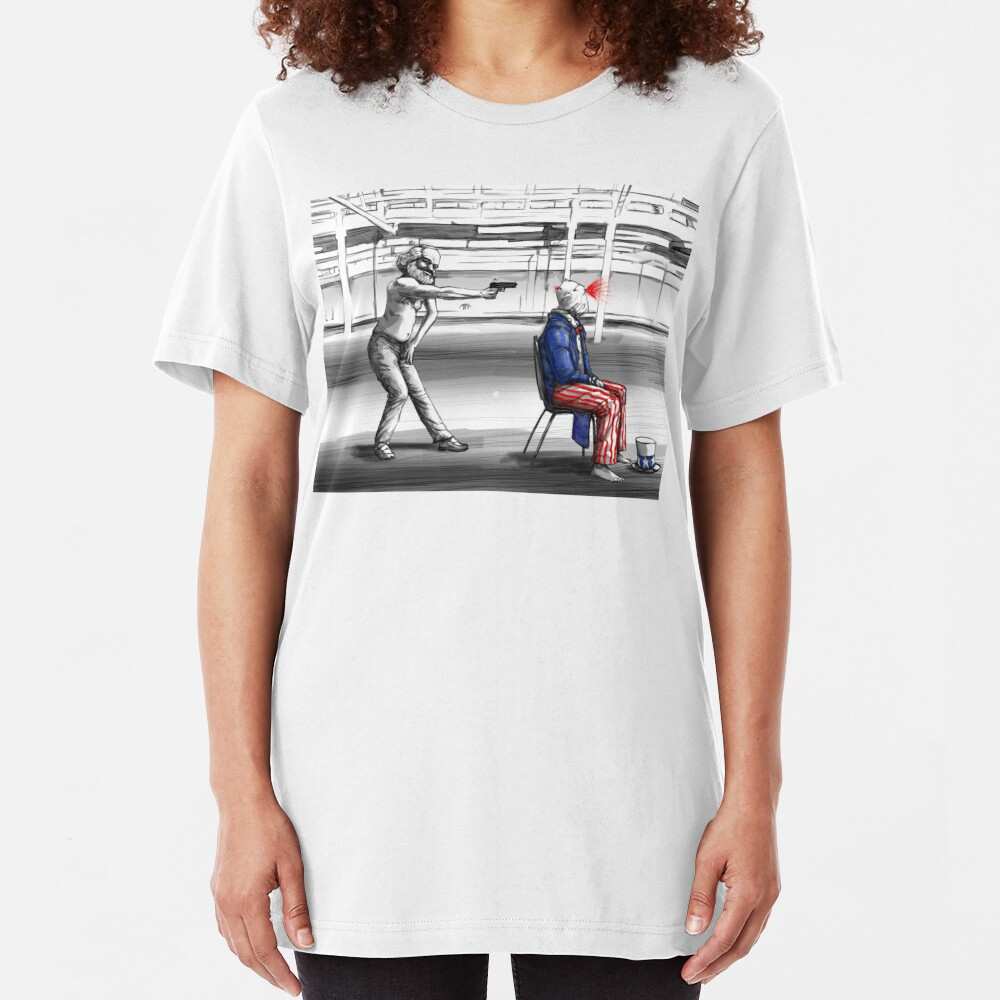 Is This America | Marxism in The USA Slim Fit T-Shirt
