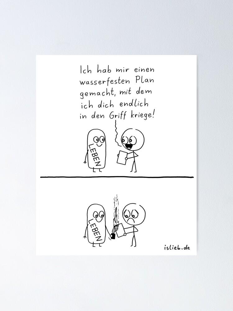 Alternative Ansicht von Plaene machen islieb-Comic Poster