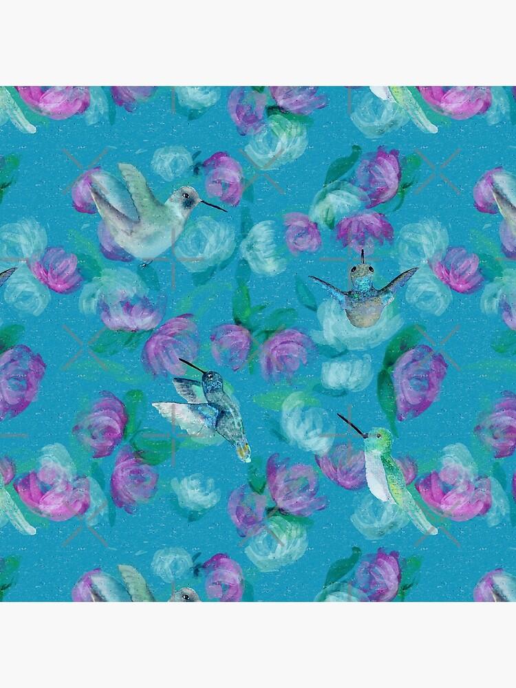 Humminbirds inspired by monet by Stasiajahadi