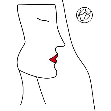 Womans Face Fashion Design Art Drawing by RecycleBros