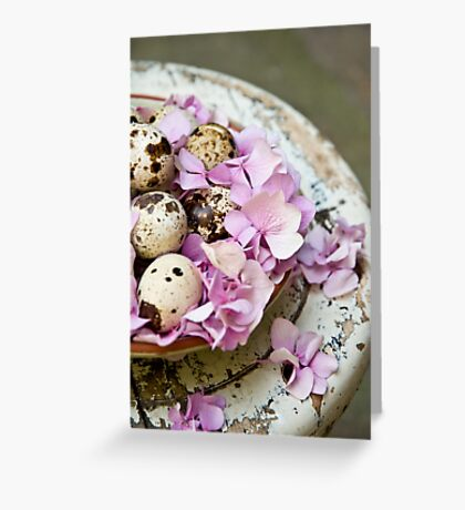 Quail eggs Greeting Card