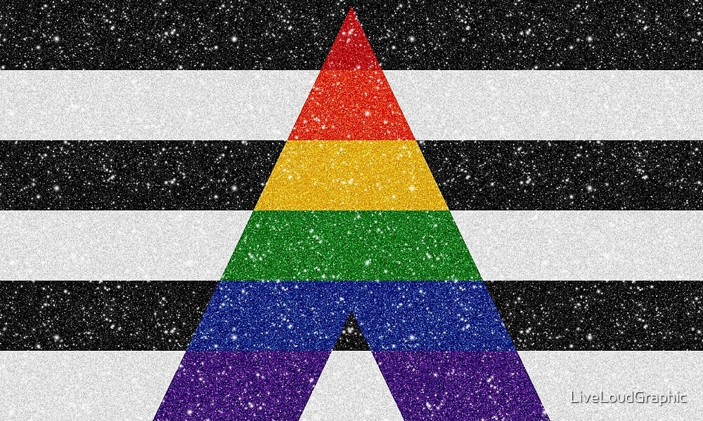 Faux Glitter LGBT Ally Pride Flag by LiveLoudGraphic