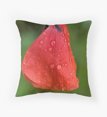 Poppy in tears Throw Pillow