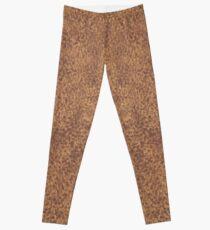 Fur Animal Print Brown Beige Leggings