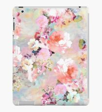 Romantic Pink Teal Watercolor Chic Floral Pattern iPad Case/Skin