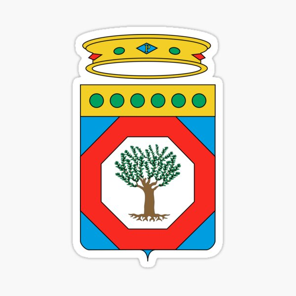 Coat of Arms of Apulia, Italy Sticker