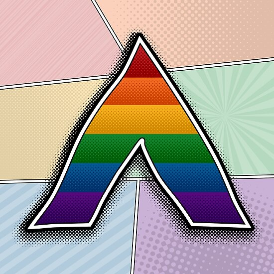 Halftone Lgbt Ally Pride Symbol Posters By Liveloudgraphic Redbubble