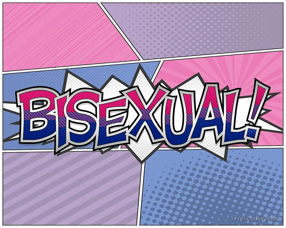 Halftone Bisexual Typography by LiveLoudGraphic