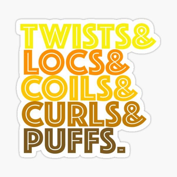 Twists, Locs, Coils, Curls Puff Natural Hair Sticker