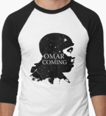 omar comin yo! Men's Baseball ¾ T-Shirt