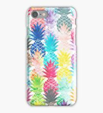 Hawaiian Pineapple Pattern Tropical Watercolor iPhone Case/Skin
