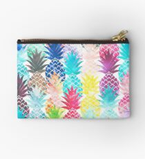 Hawaiian Pineapple Pattern Tropical Watercolor Studio Pouch
